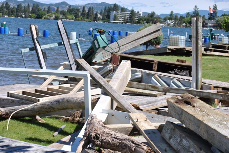 Boat Lift Damage