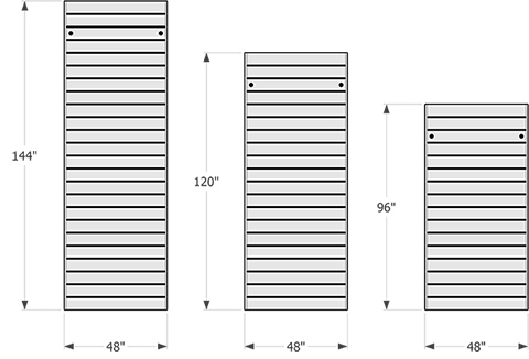 Available Sectional Dock Sizes